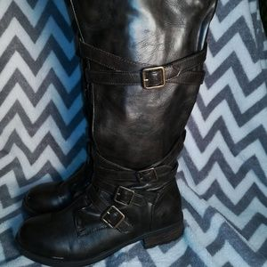 Rampage Knee-high Buckle Boots
